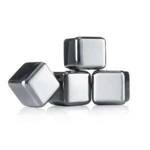Stainless Steel Whiskey Stones (Set of 4)