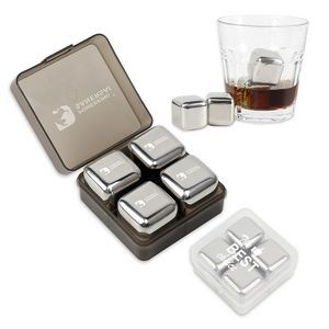 Stainless ICE Cubes & Whisky Stones With Velvet Packing